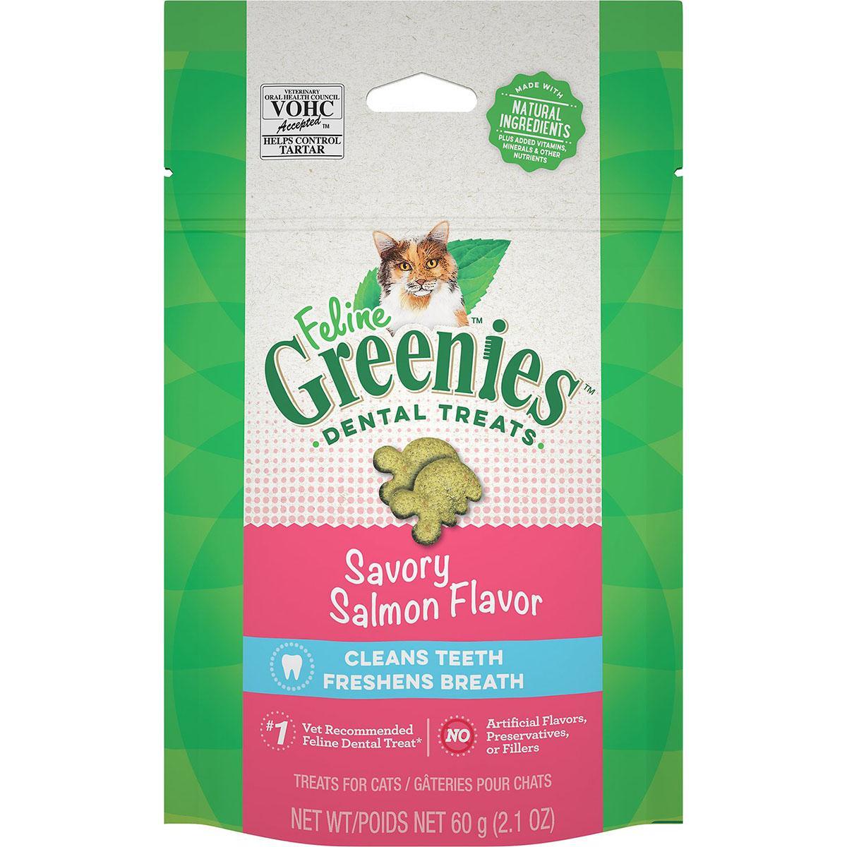 Greenies Feline Dental Cat Treats - Savory Salmon Flavor