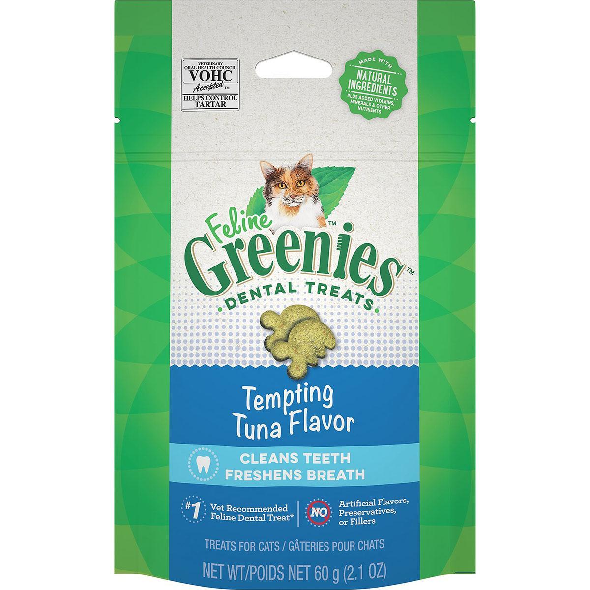 Greenies Feline Dental Cat Treats - Tempting Tuna Flavor
