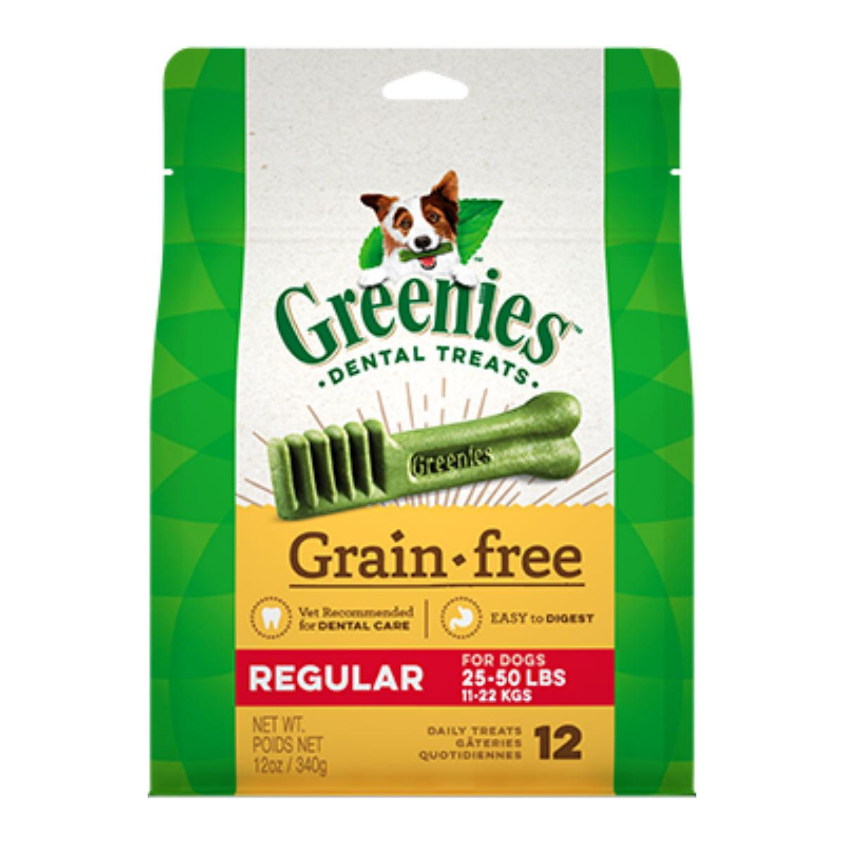 Greenies Grain Free Dental Dog Chews - Regular Dog Size