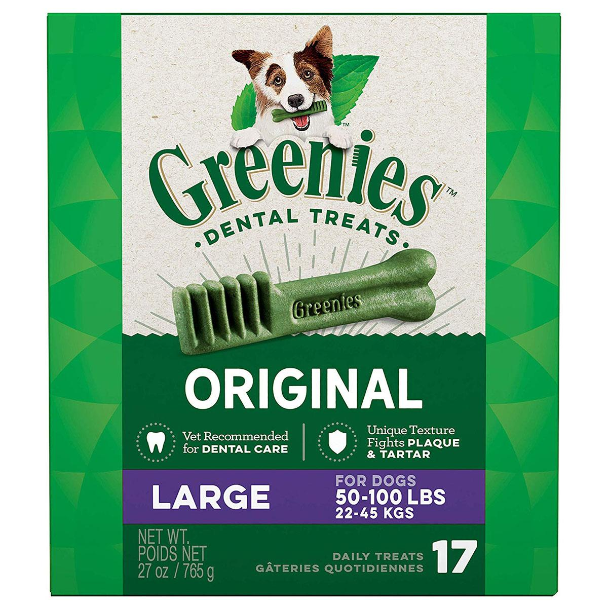 Greenies Original Dental Dog Chews - Large Dog Size
