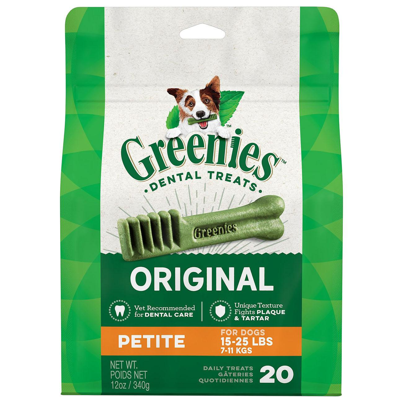 Greenies Original Dental Dog Chews - Petite Dog Size