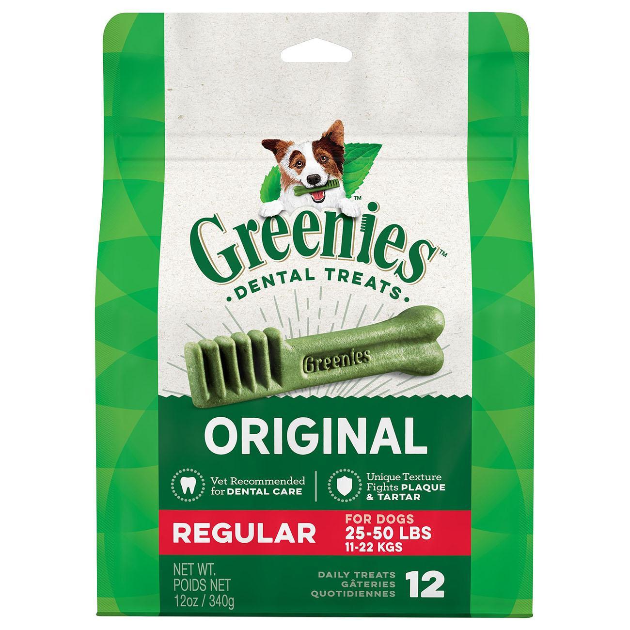 Greenies Original Dental Dog Chews - Regular Dog Size