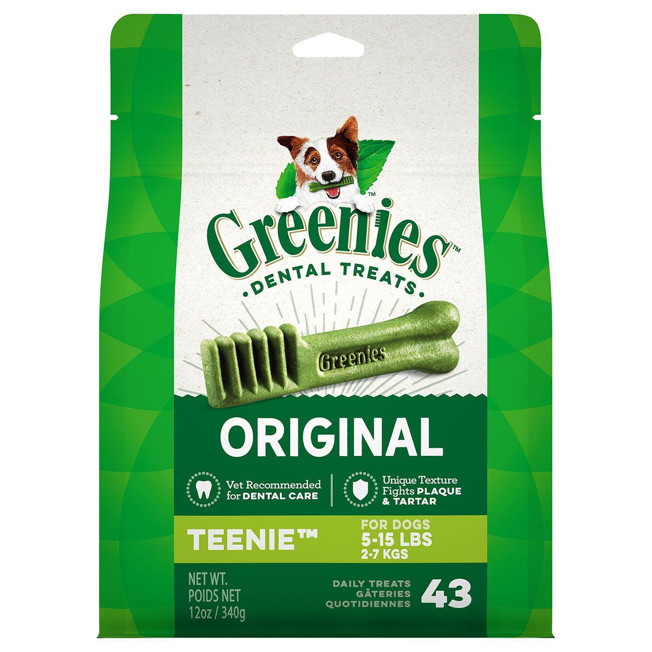 Greenies Original Dental Dog Chews - Teenie Dog Size