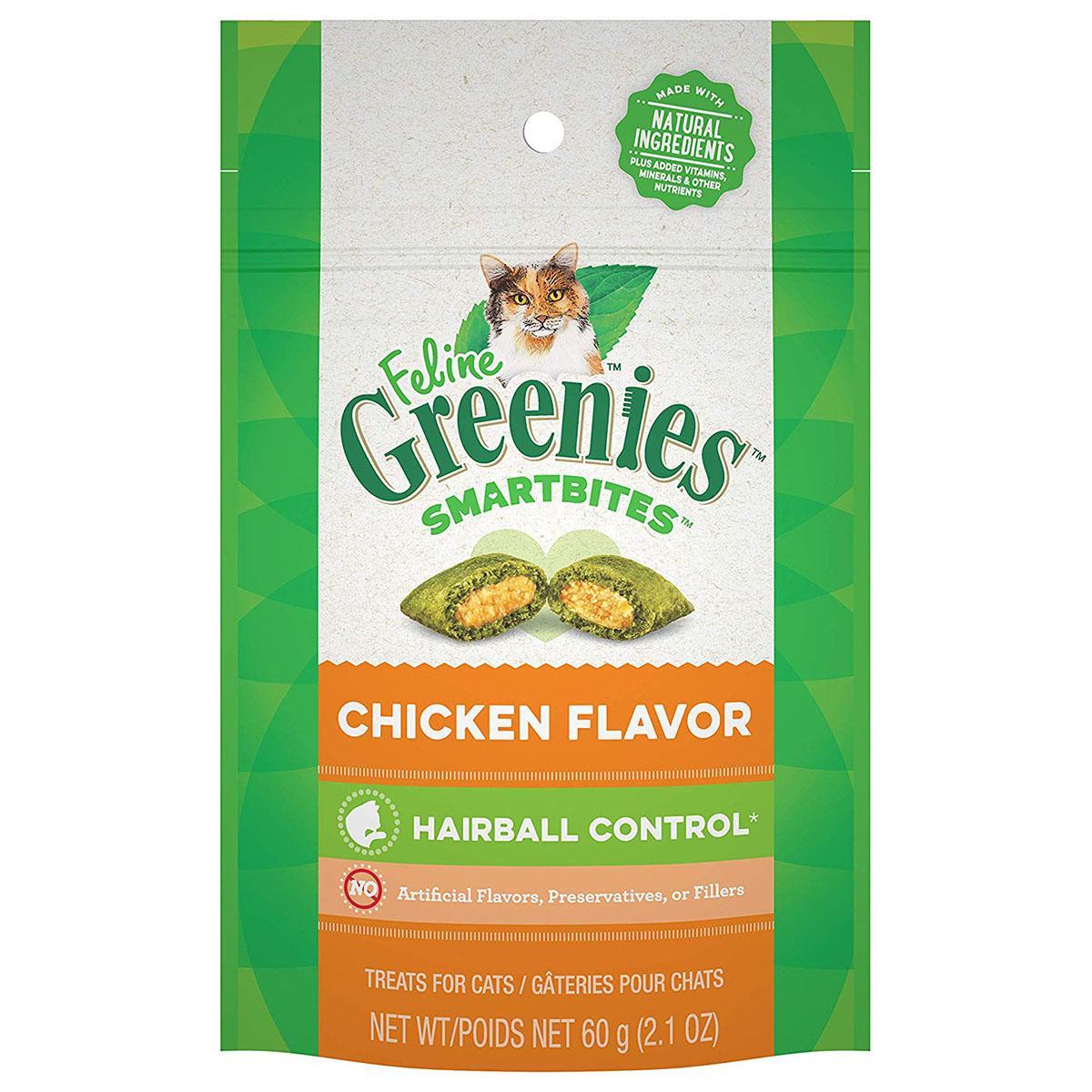 Greenies Smartbites Hairball Control Cat Treats - Chicken