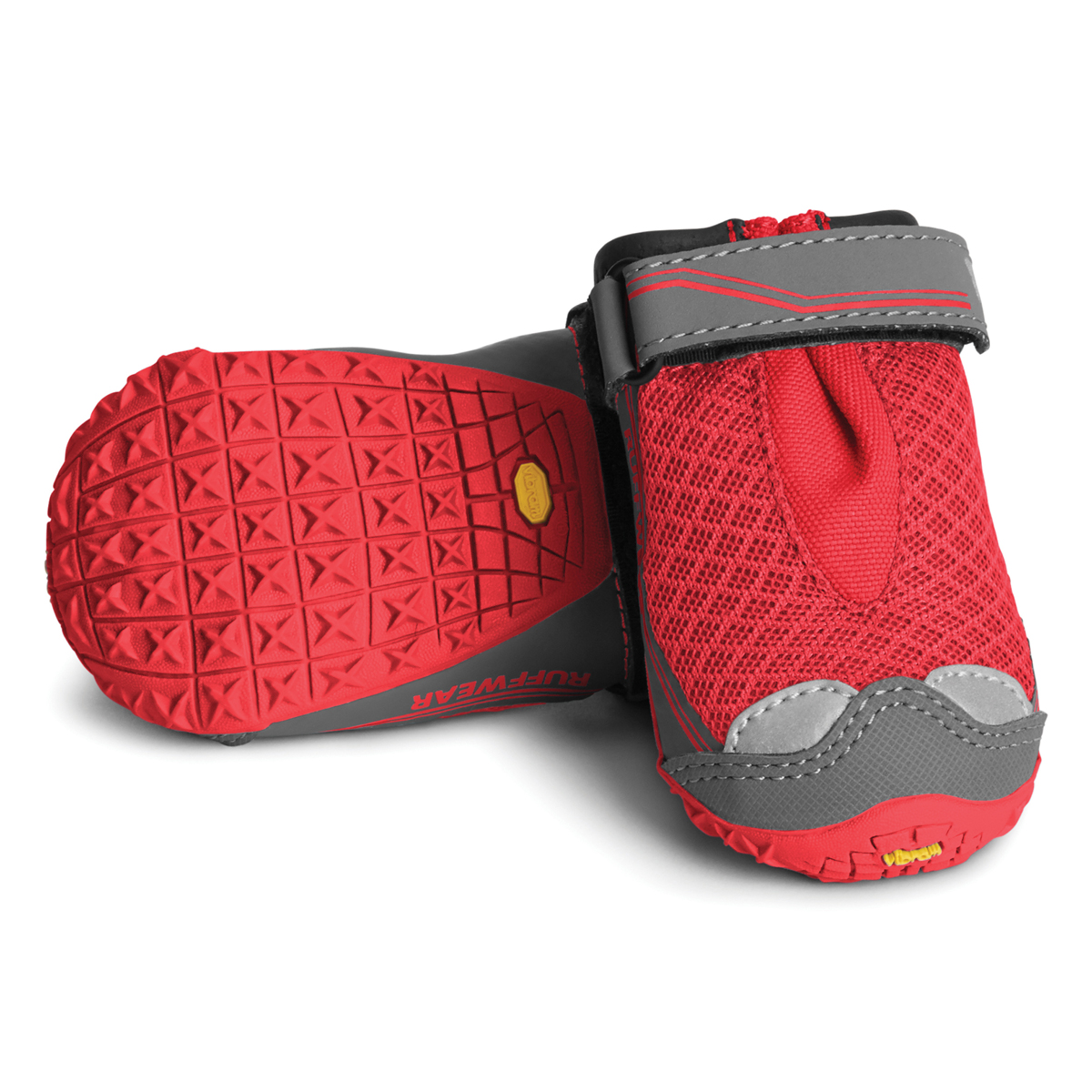 Grip Trex Dog Boots by RuffWear - Red Currant with Gray Trim