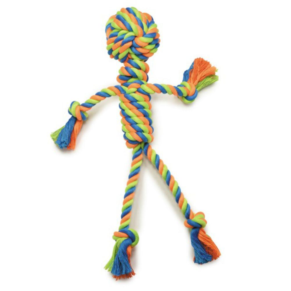 Grriggles Mighty Bright Rope Dog Toy - Rope Man