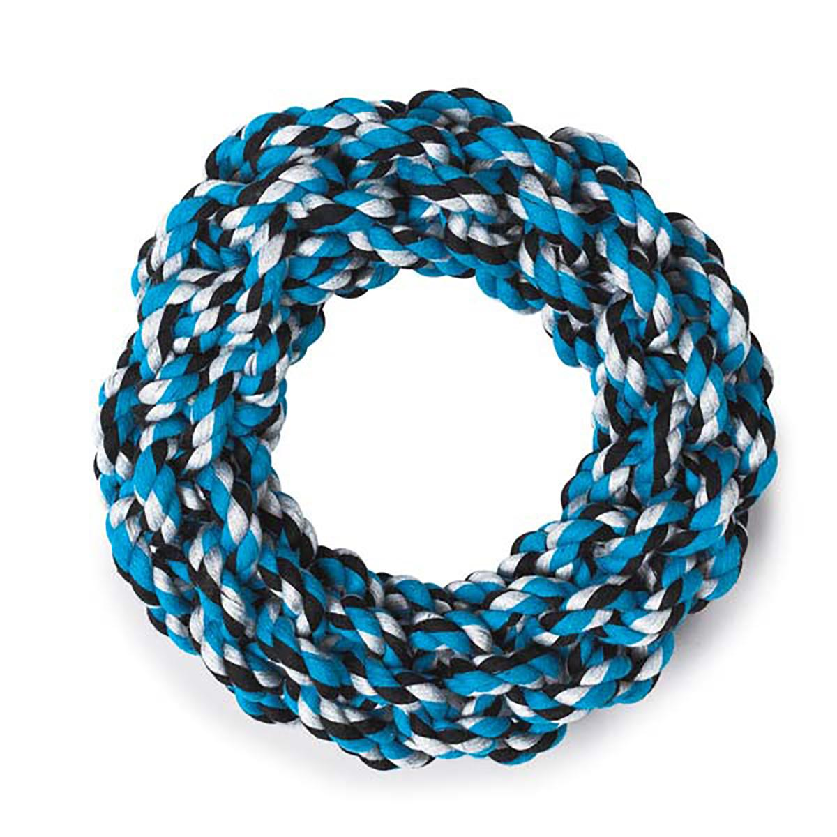 Grriggles Rope Ring Dog Toy - Blue