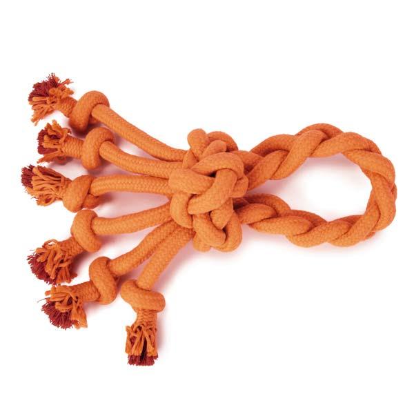 Grriggles Ruff Rope Dog Toy - Orange Loop