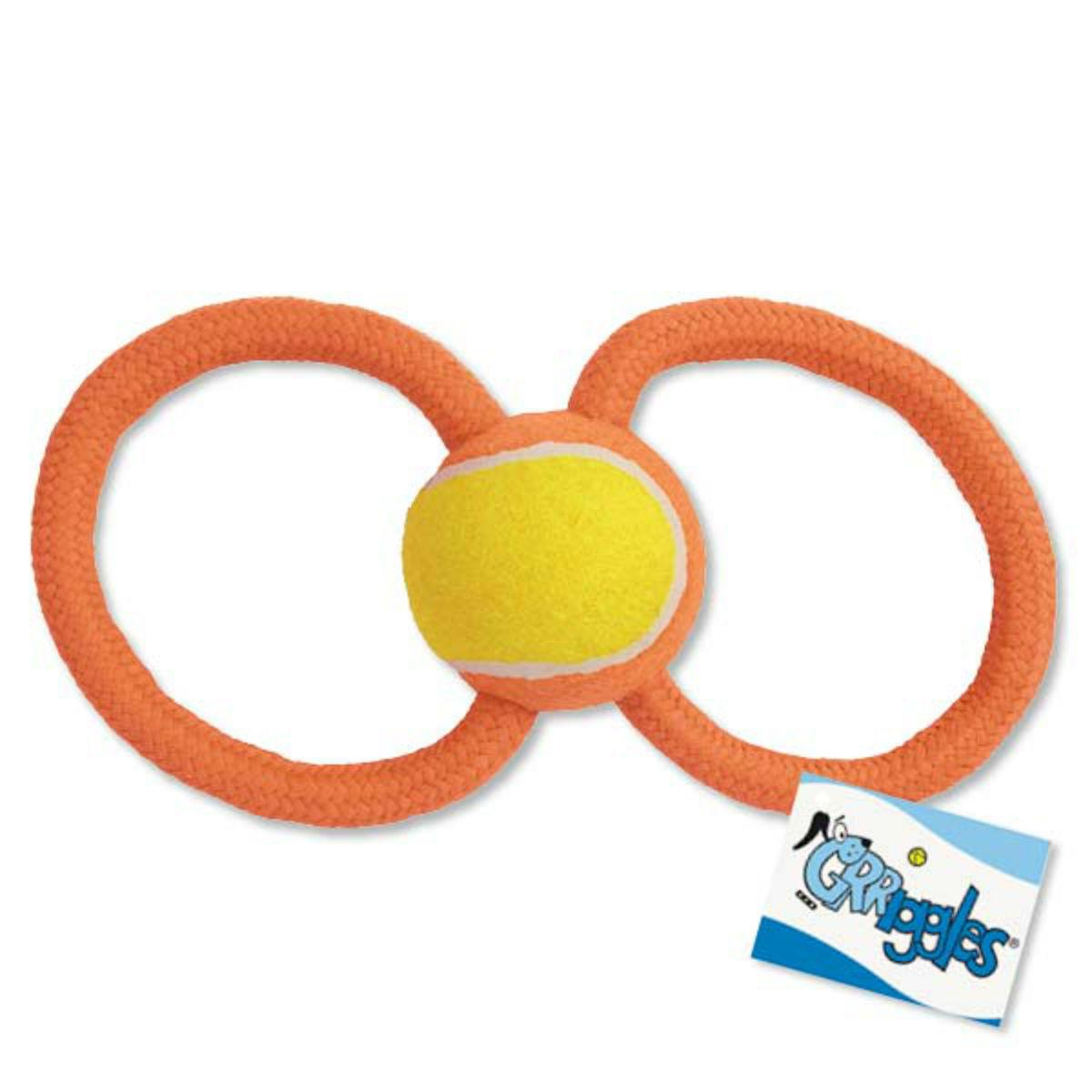 Grriggles Ruff Rope Figure Eights Dog Toy