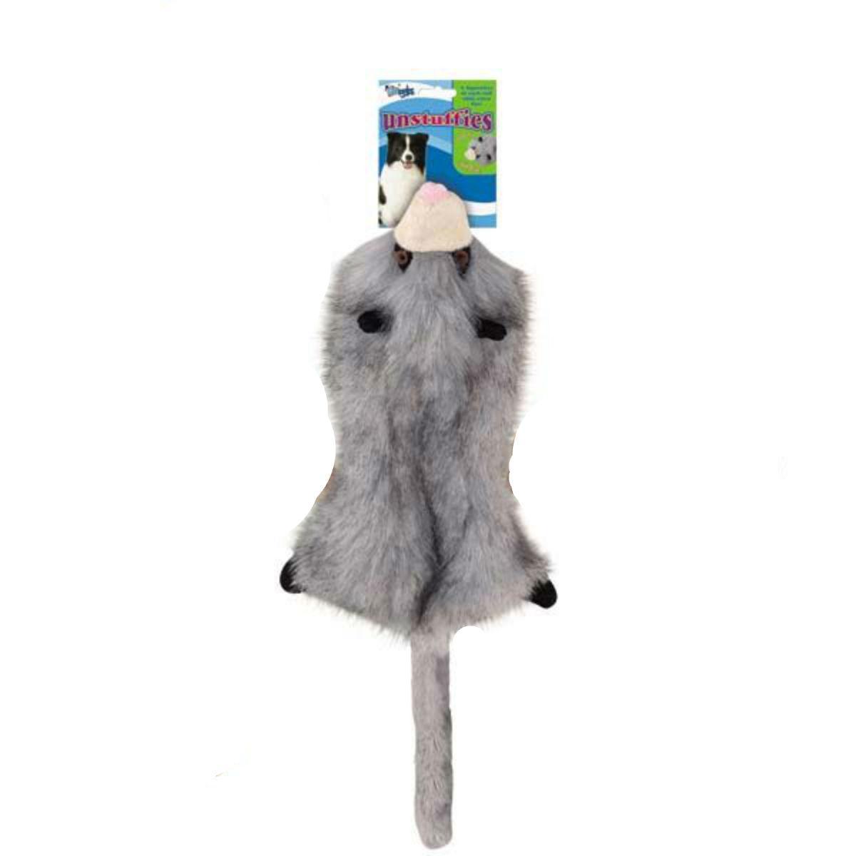 Grriggles Unstuffies Dog Toy - Opossum