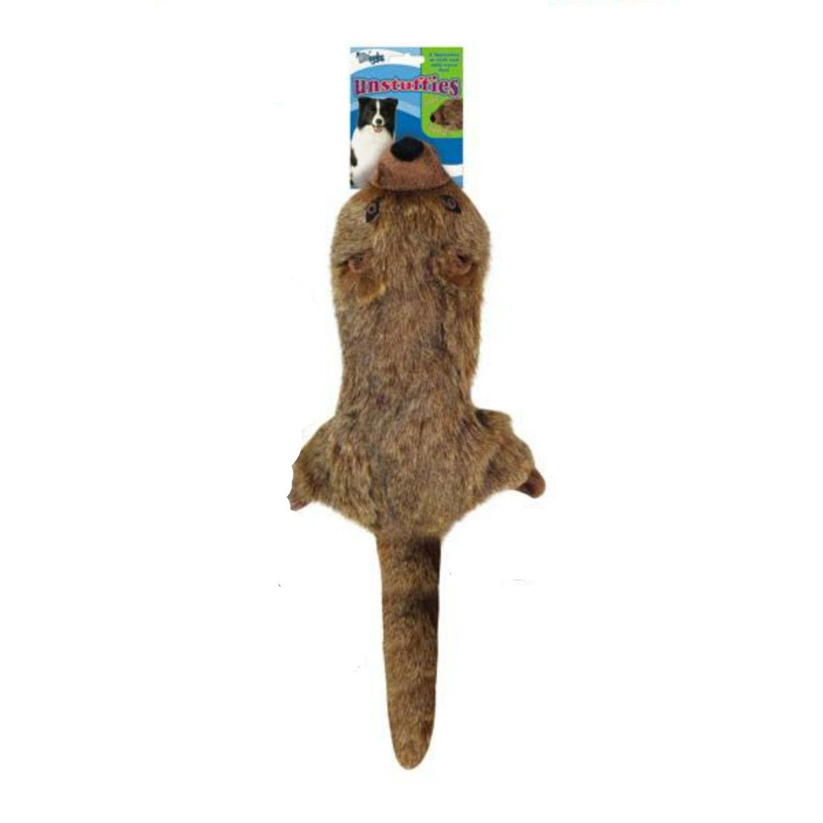 Grriggles Unstuffies Dog Toy - Mongoose