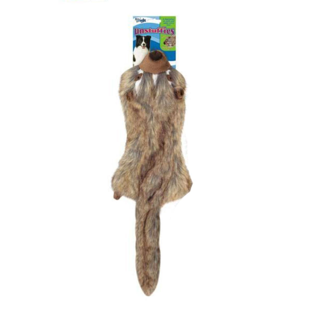 Grriggles Unstuffies Dog Toy - Badger