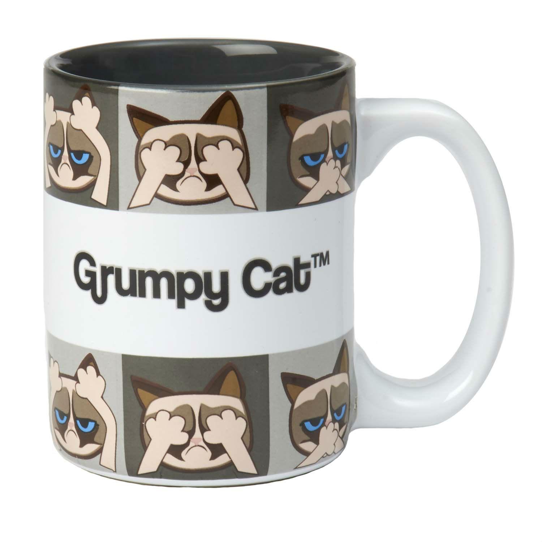 Grumpy Cat Here/See/Speak No Evil Mug