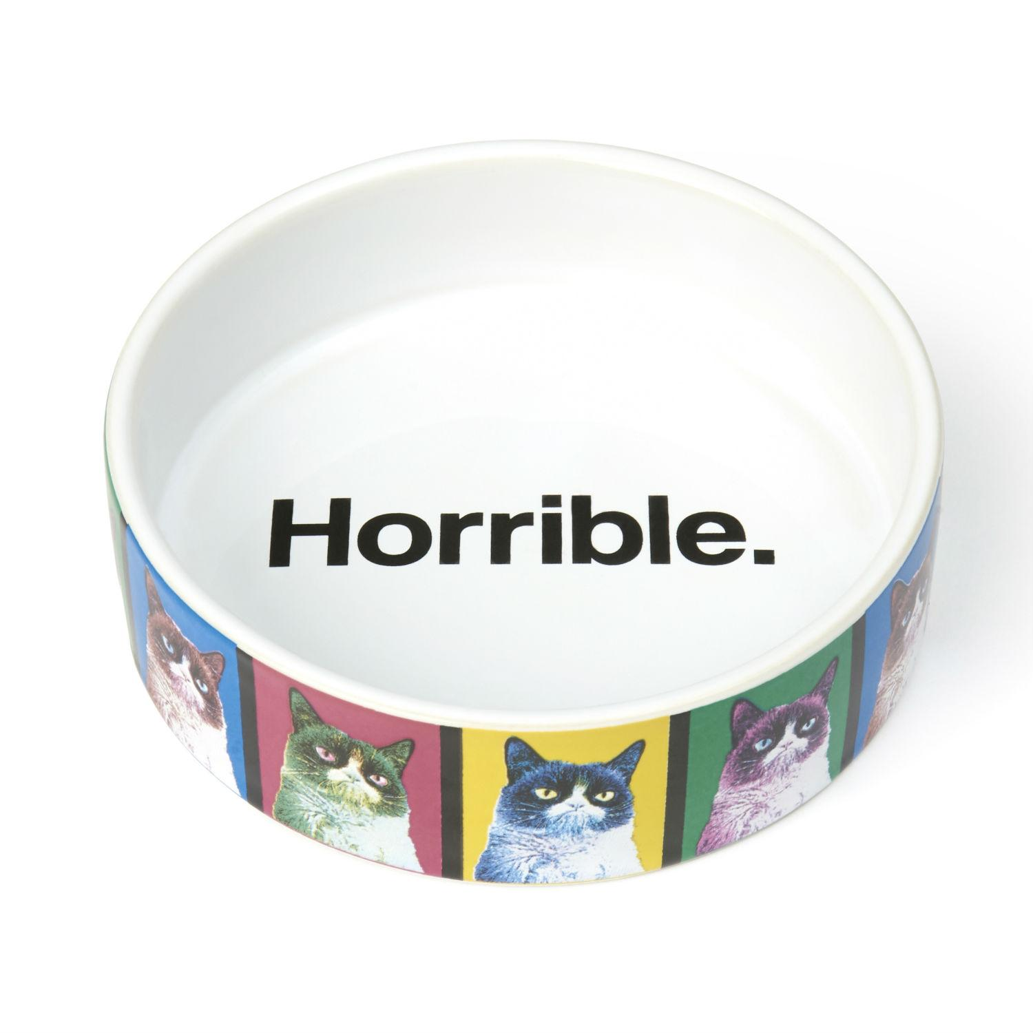 Grumpy Cat Pop Art Dog Bowl