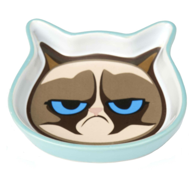 Grumpy Cat Saucer - Blue