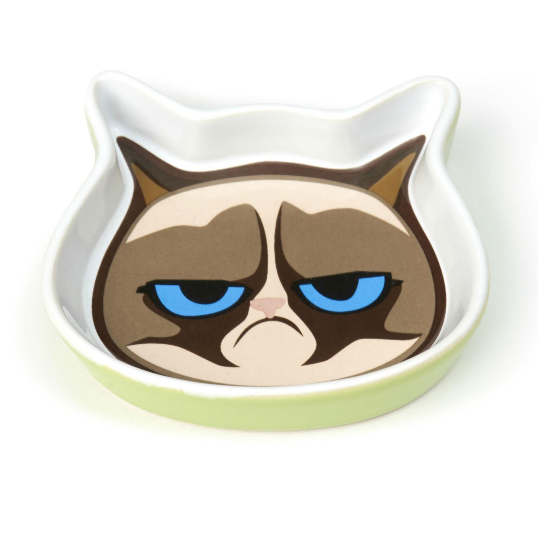 Grumpy Cat Saucer - Green