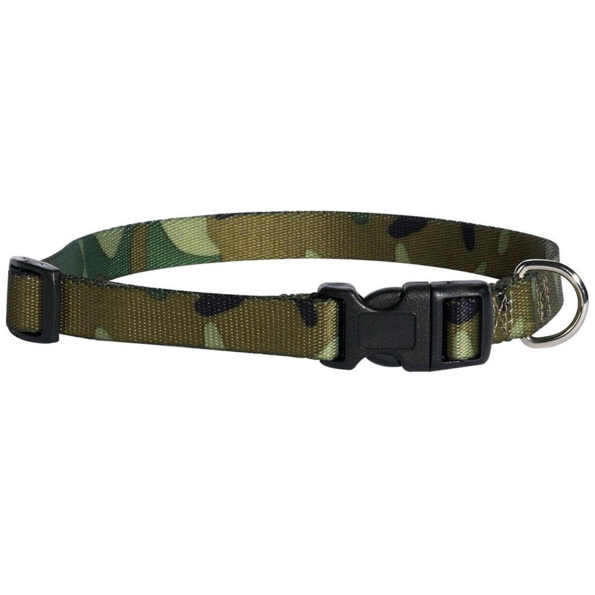 Casual Canine Camo Dog Collar - Green