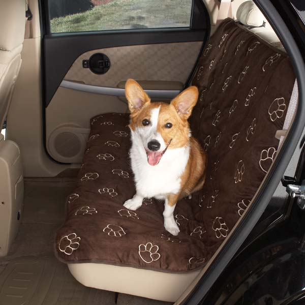 Guardian Gear Pawprint Seat Covers - Chocolate