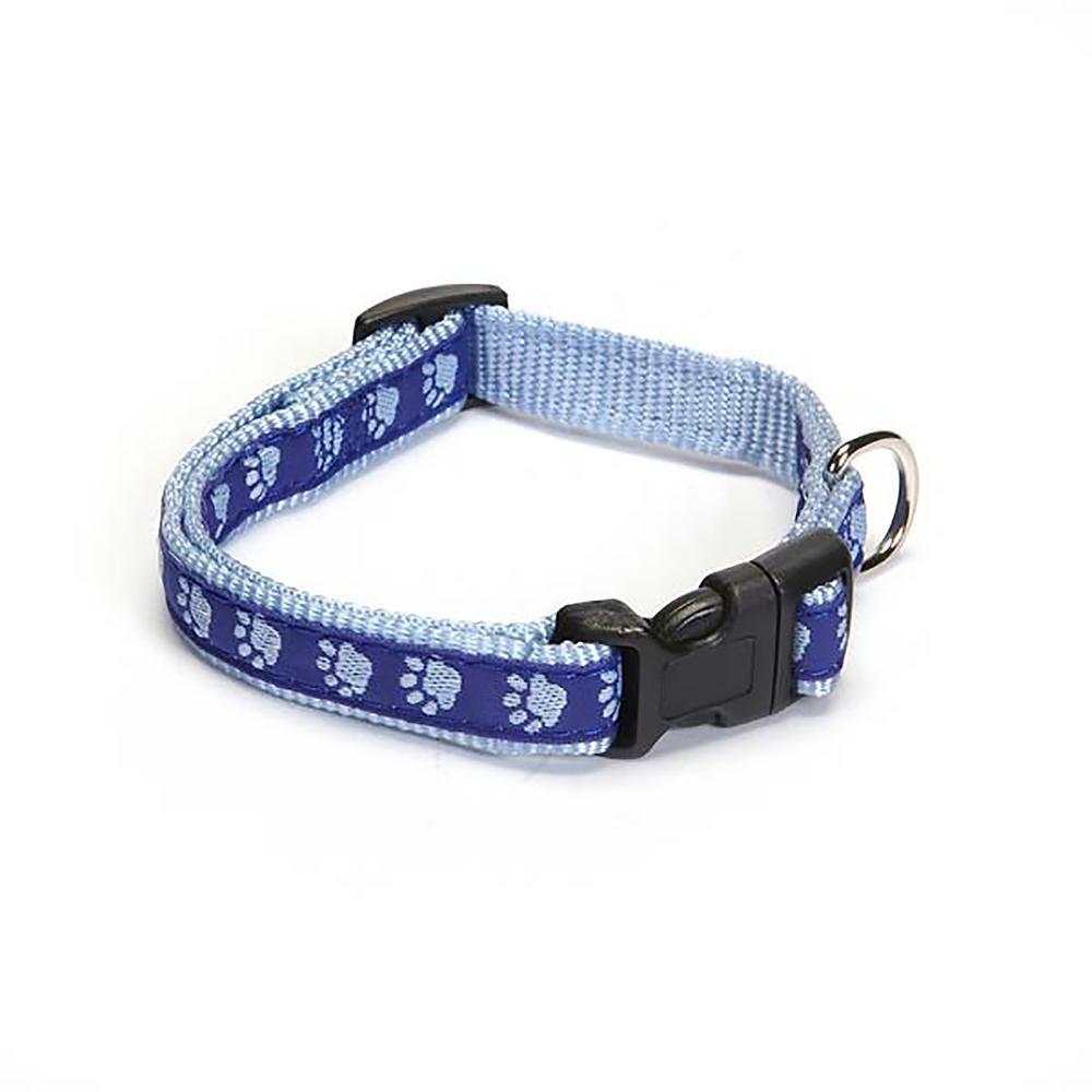 Guardian Gear Two Tone Pawprint Dog Collar - Blue