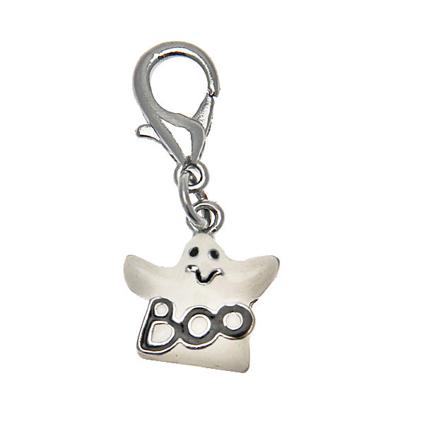 Halloween Dog and Cat Collar Charm - Ghost Lobster Claw