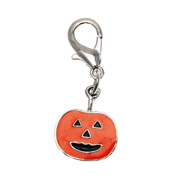 Dog Collar Charm - Pumpkin Lobster Claw