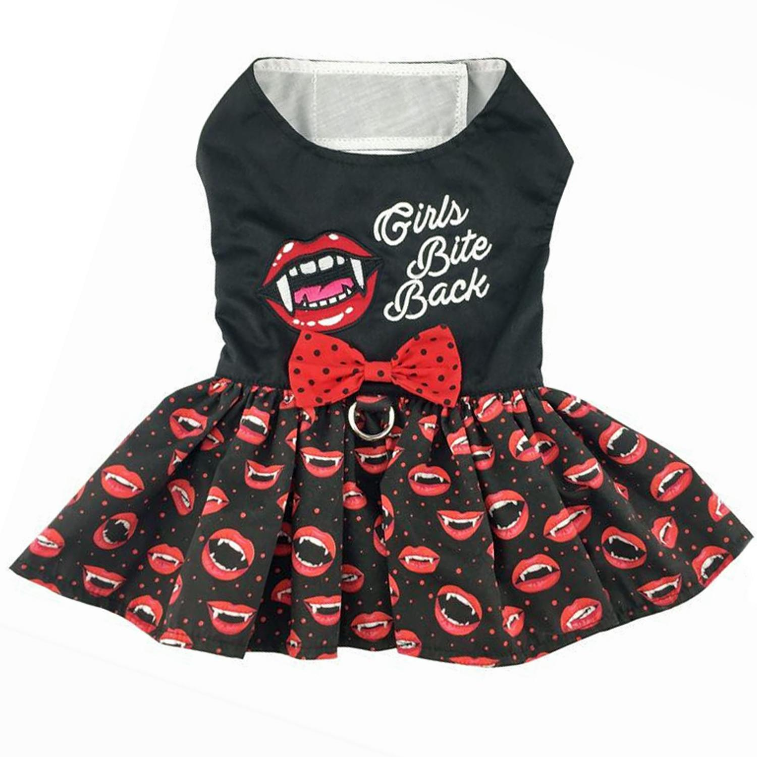 Halloween Dog Harness Dress by Doggie Design - Girls Bite Back