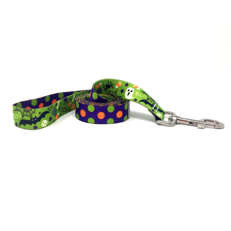 Halloween Mix Polka Dot Dog Leash by Yellow Dog