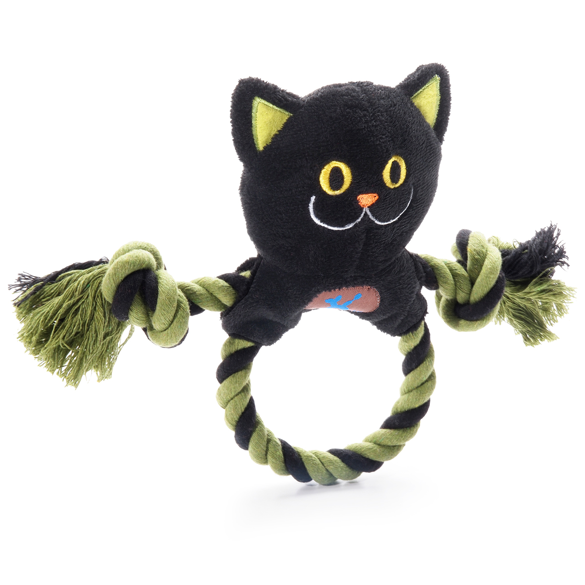 Halloween Ring Toss Dog Toy - Black Cat