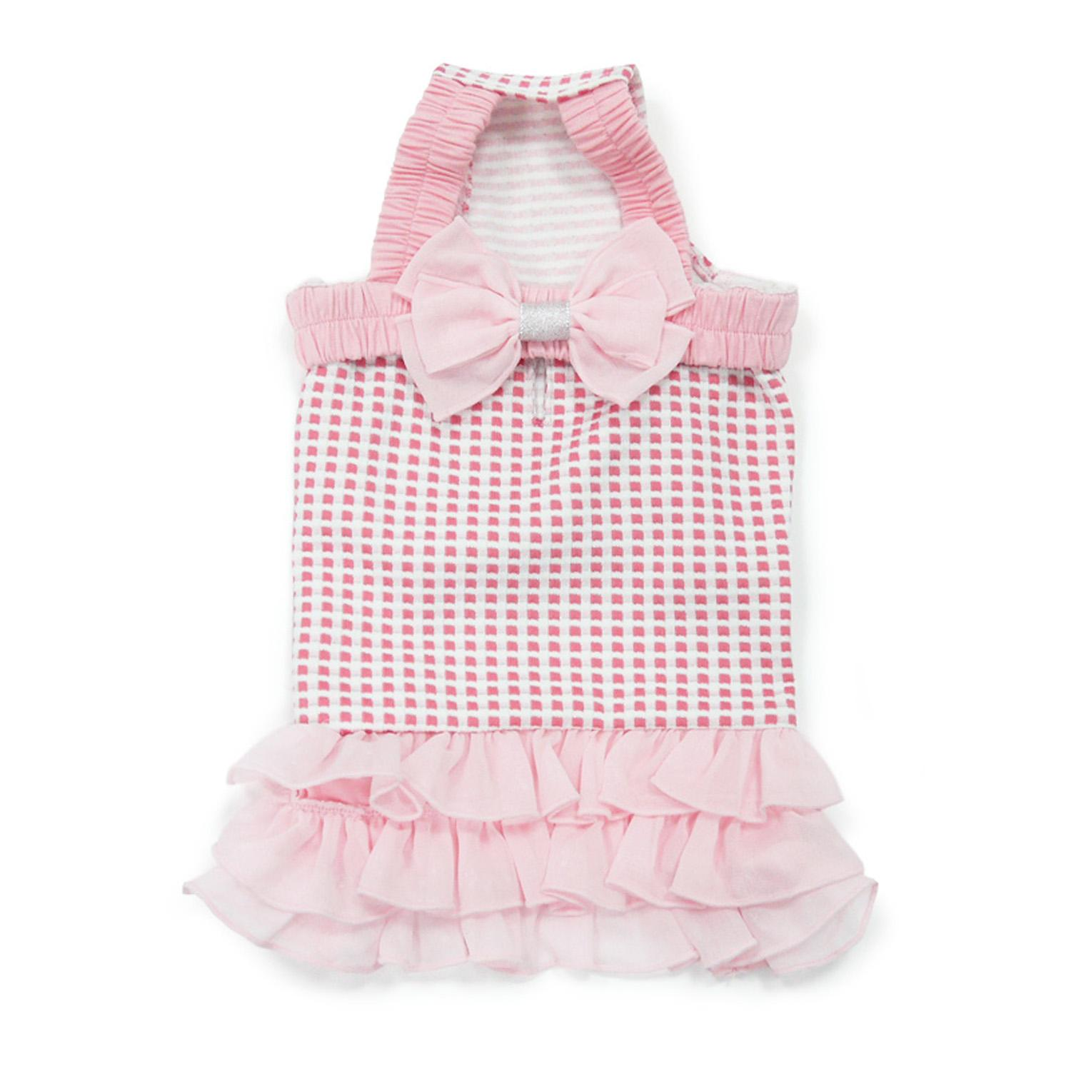 Halter Woven Dog Dress by Dogo - Pink