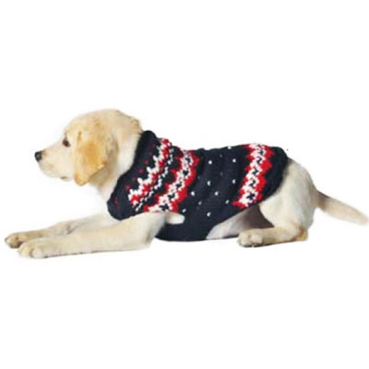 Handmade Alpine Fair Isle Wool Dog Sweater - Navy with Same Day ...