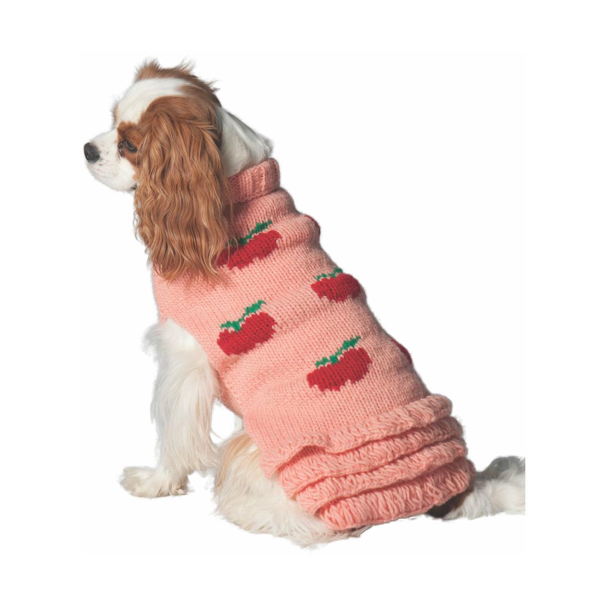Handmade Apple Wool Dog Sweater Dress