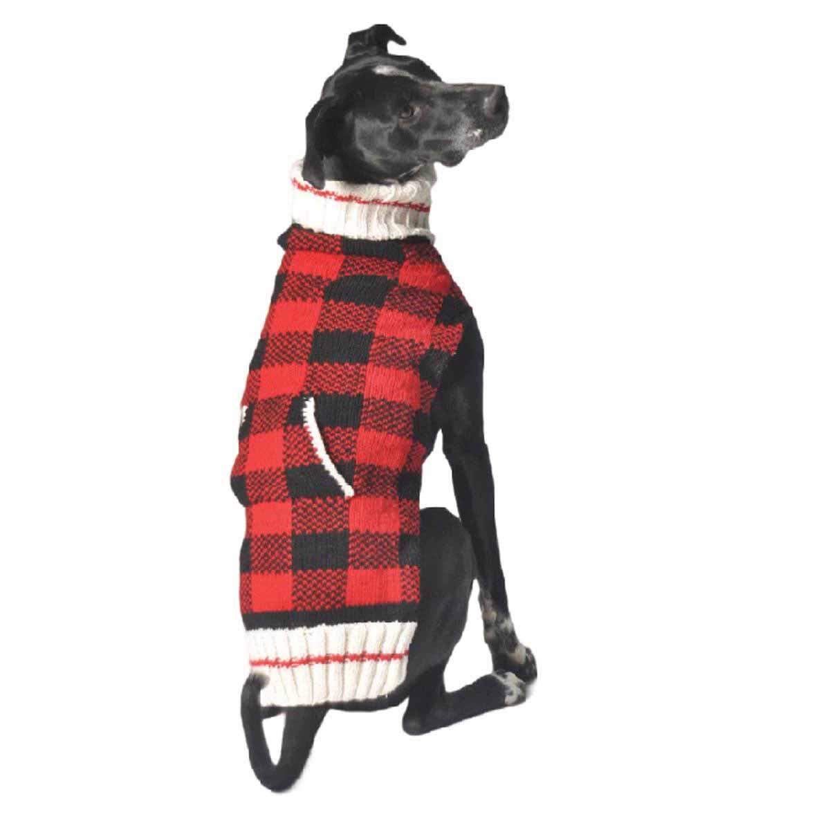 Handmade Buffalo Plaid Wool Dog Sweater