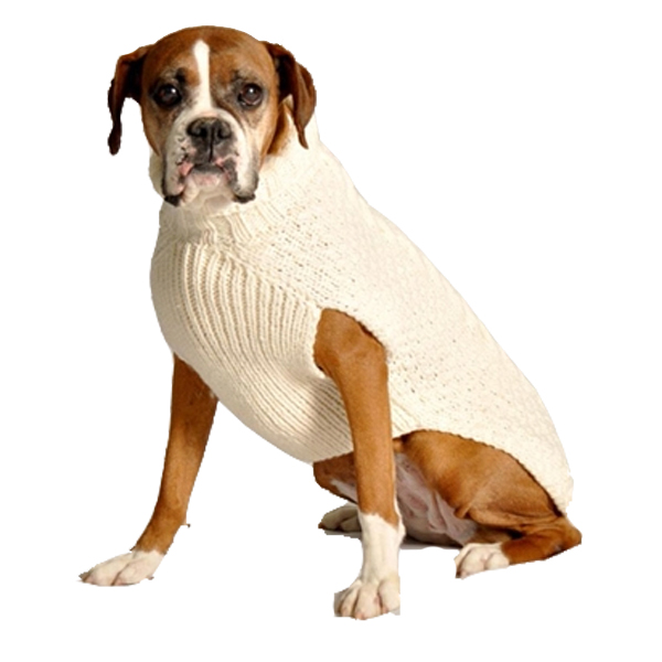 Handmade Cable Knit Wool Dog Sweater Natura Baxterboo