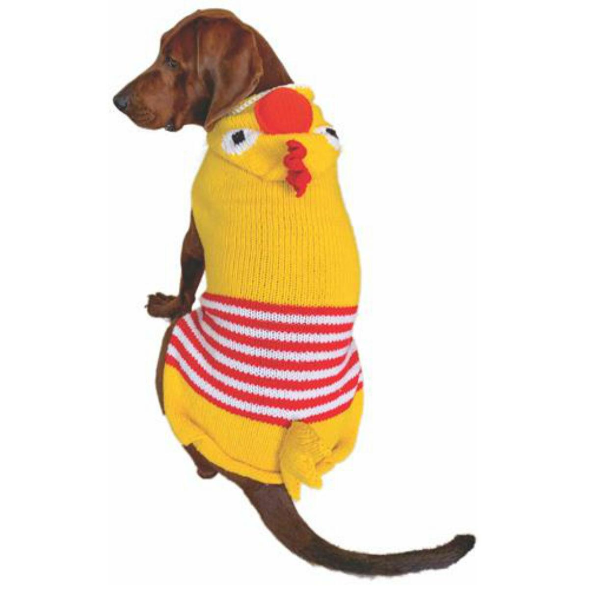 Handmade Chicken Hooded Wool Dog Sweater
