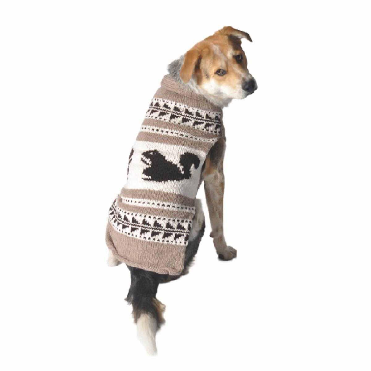 Handmade Cowichan Squirrel Wool Dog Shawl