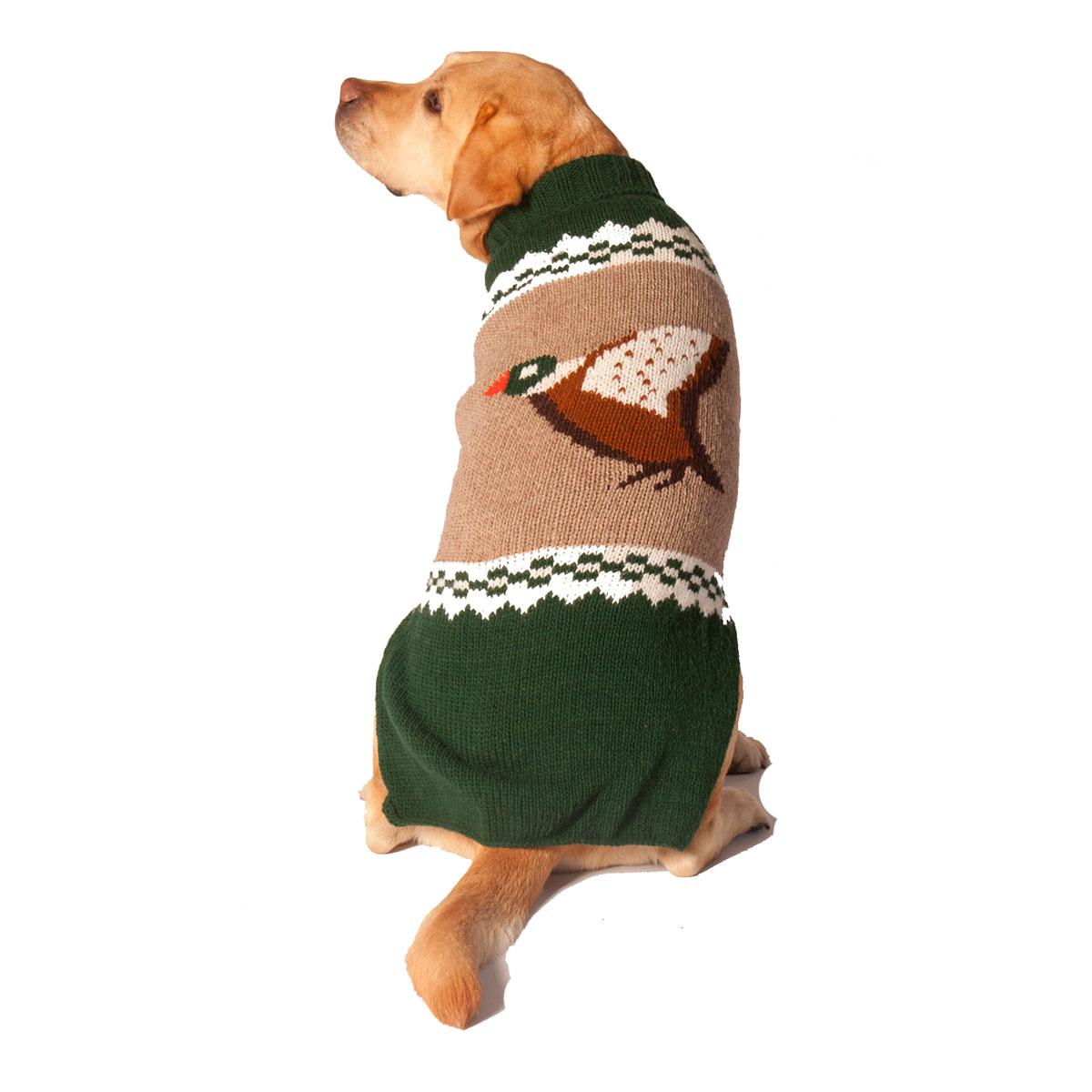 Handmade Mallard Wool Dog Sweater