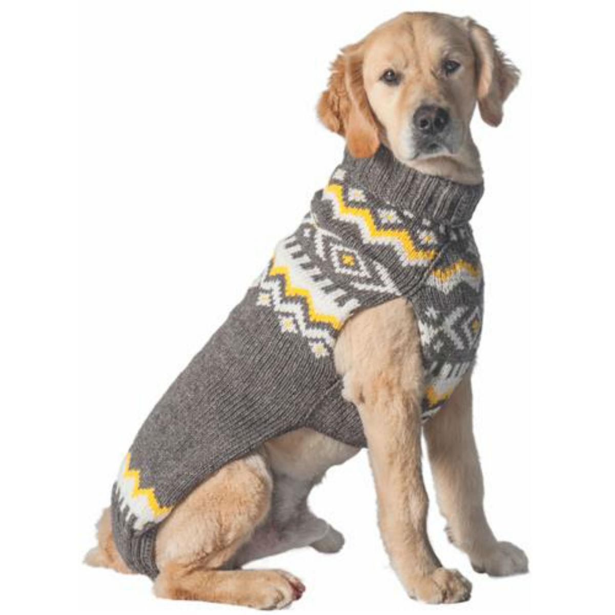 Handmade Nordic Wool Dog Sweater - Gray