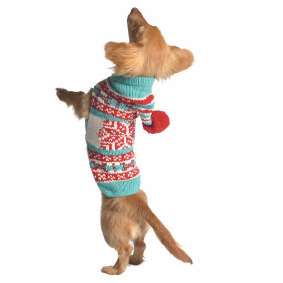 Handmade Peppermint Hoodie Wool Dog Sweater