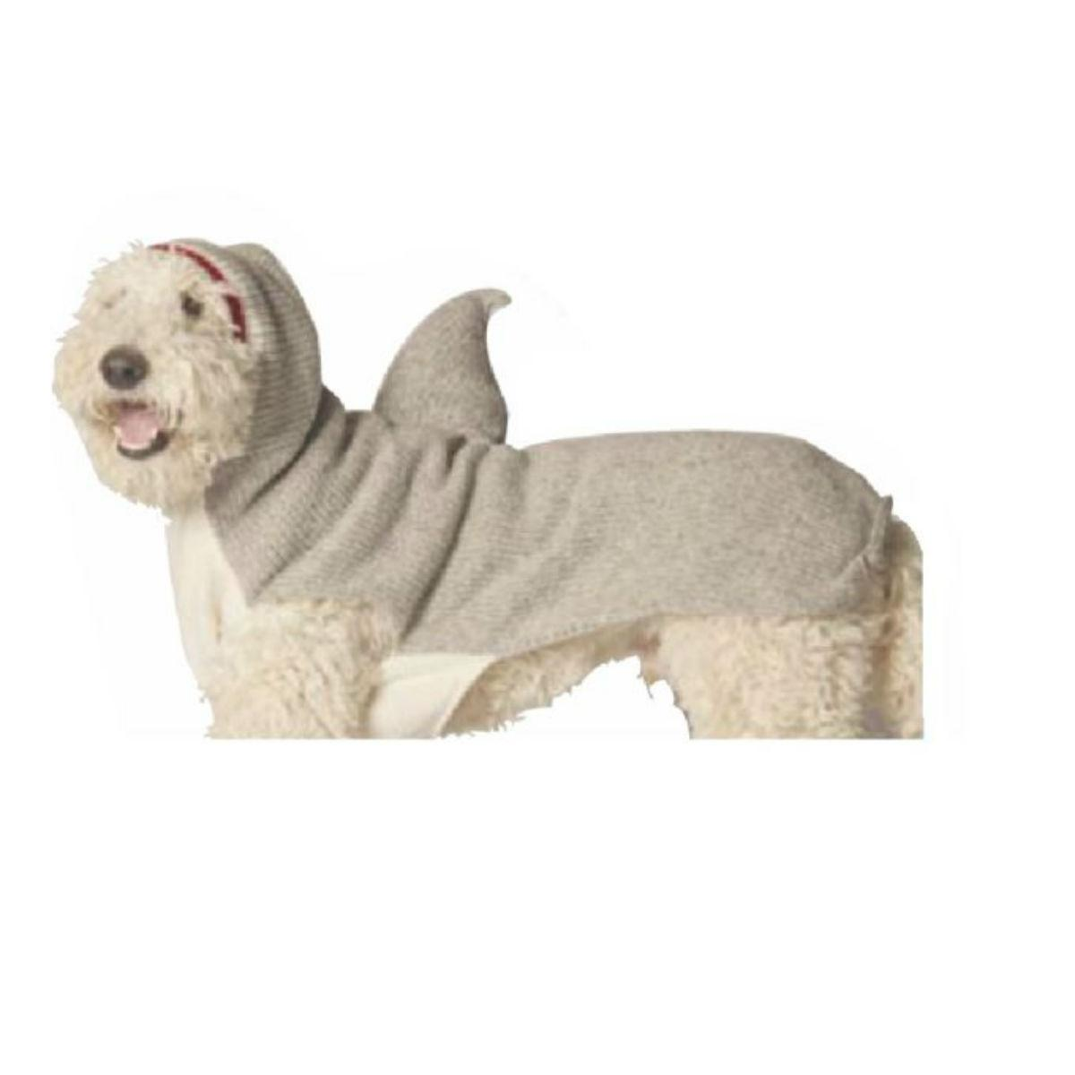 Handmade Shark Hooded Wool Dog Sweater