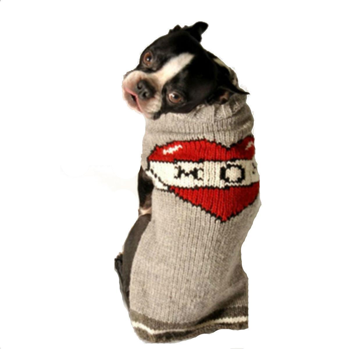 Handmade Tattooed Mom Wool Dog Sweater
