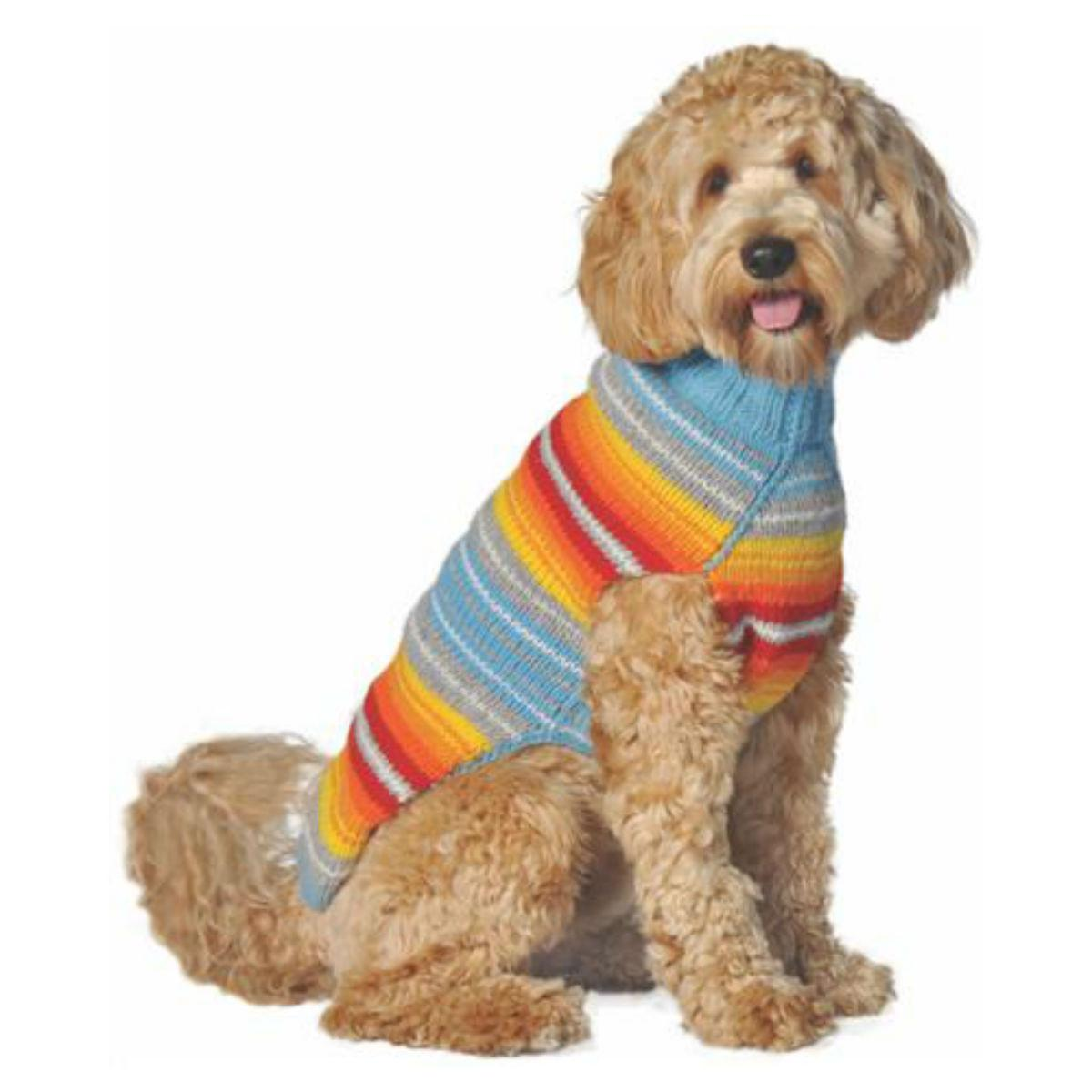 Handmade Turq Serape Dog Sweater