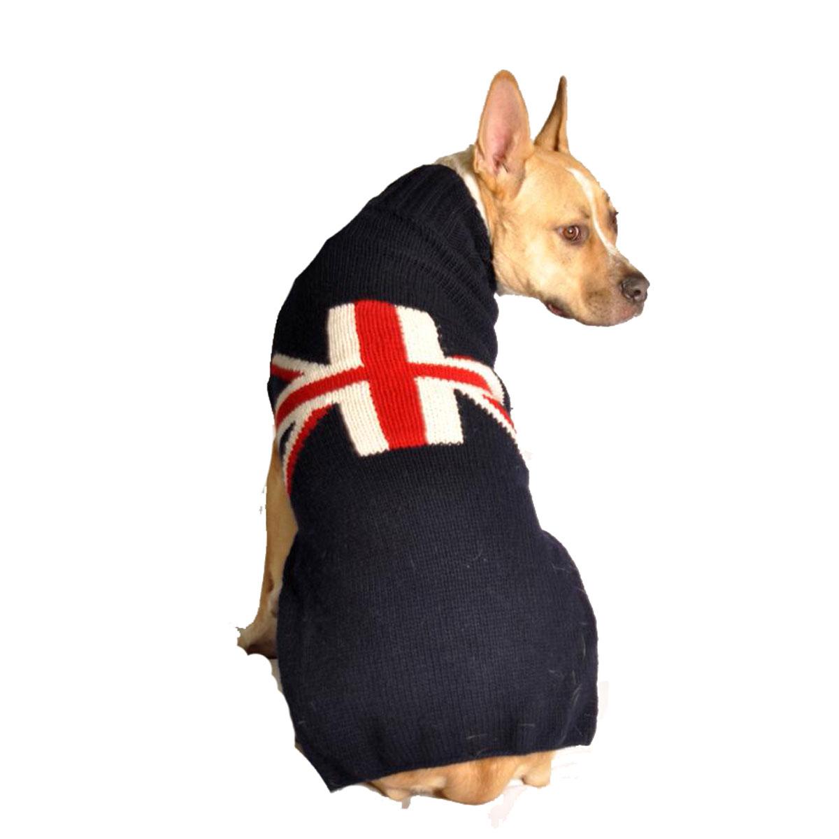 Handmade Union Jack Wool Dog Sweater