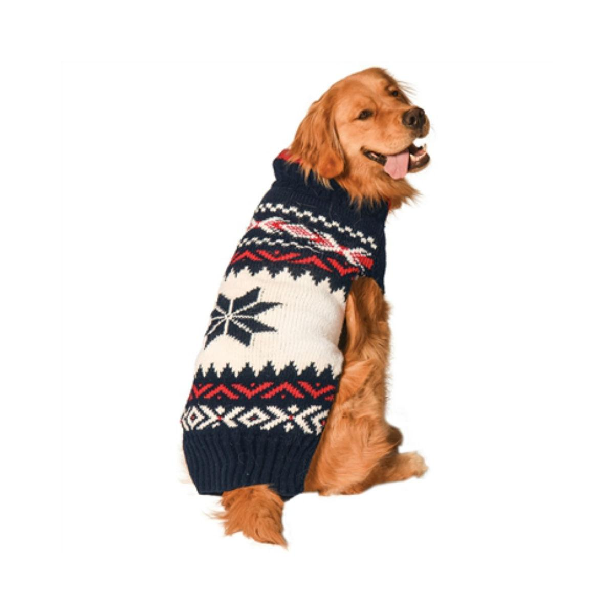 Handmade Vail Wool Dog Sweater - Navy