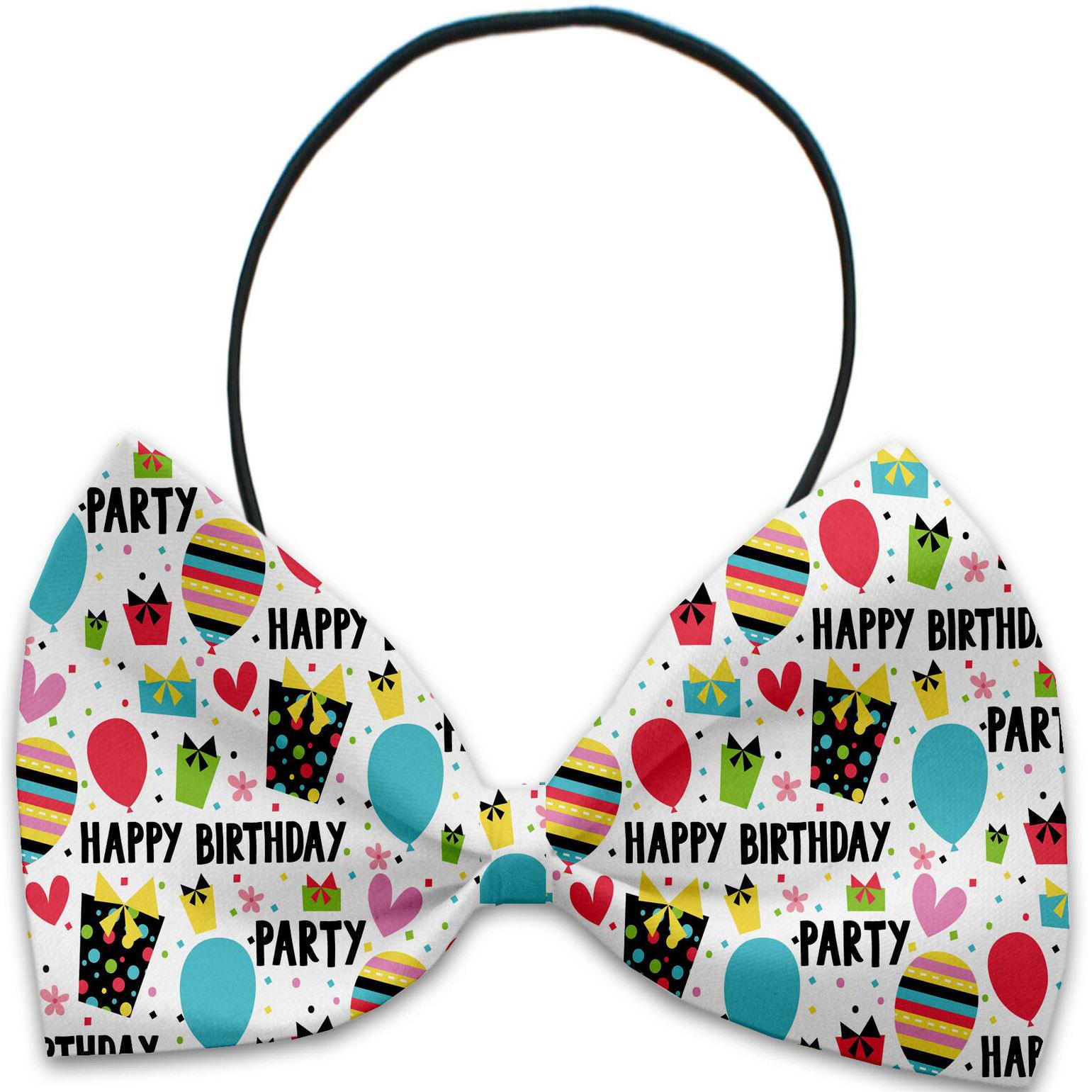 Mirage Happy Birthday Dog Bow Tie