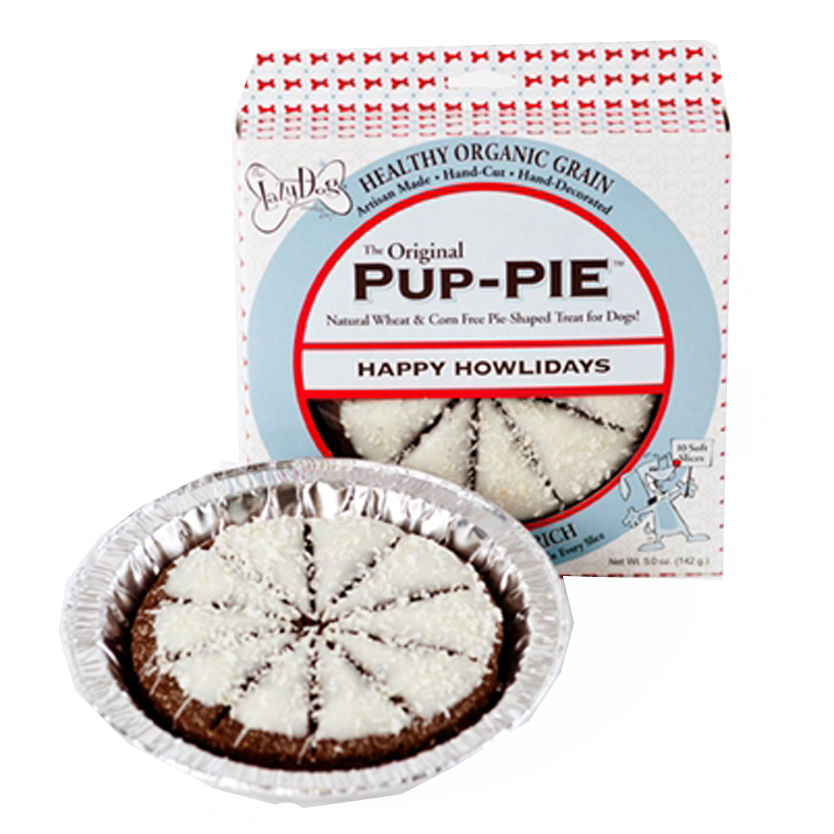 Happy Howlidays Pumpkin Peanut Butter Pup-PIE Dog Treat