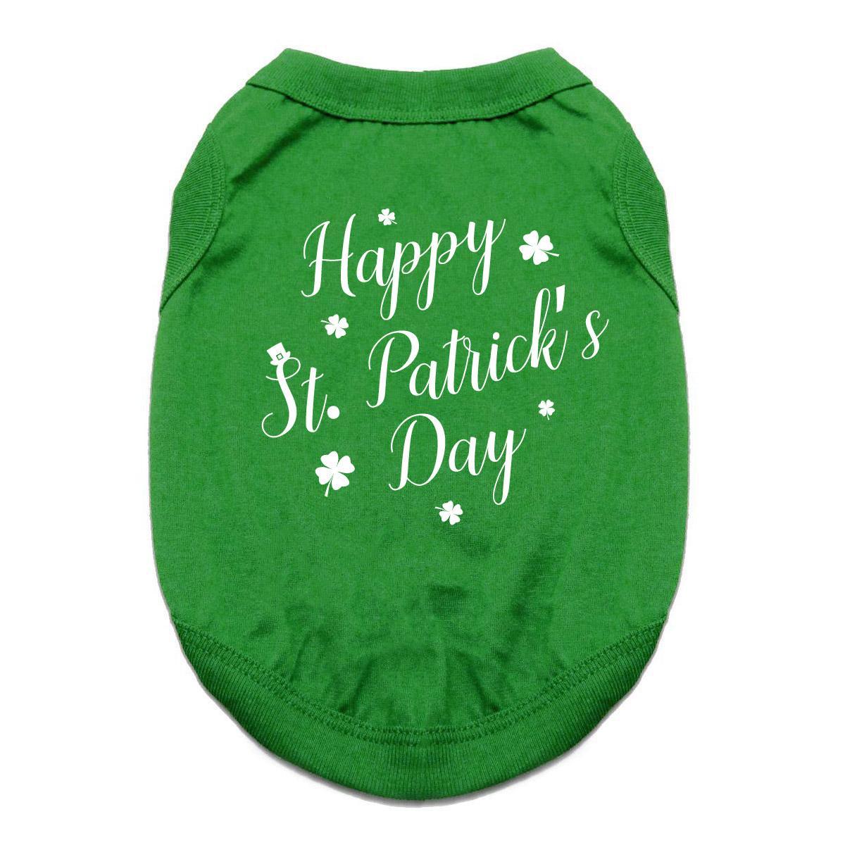 Happy St. Patrick's Day Dog Shirt - Green