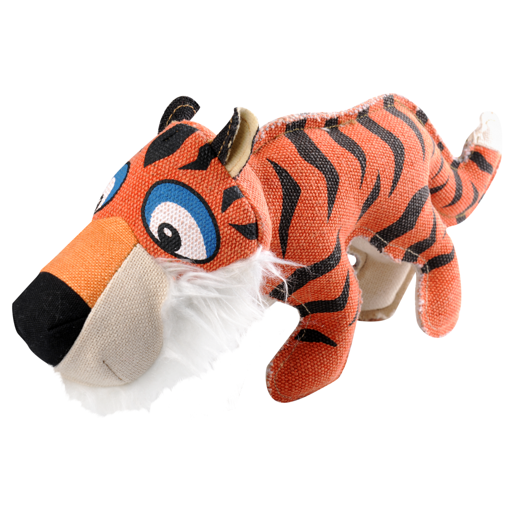 Happy Tails Critterz Canvas Dog Toy - Mini Bengal