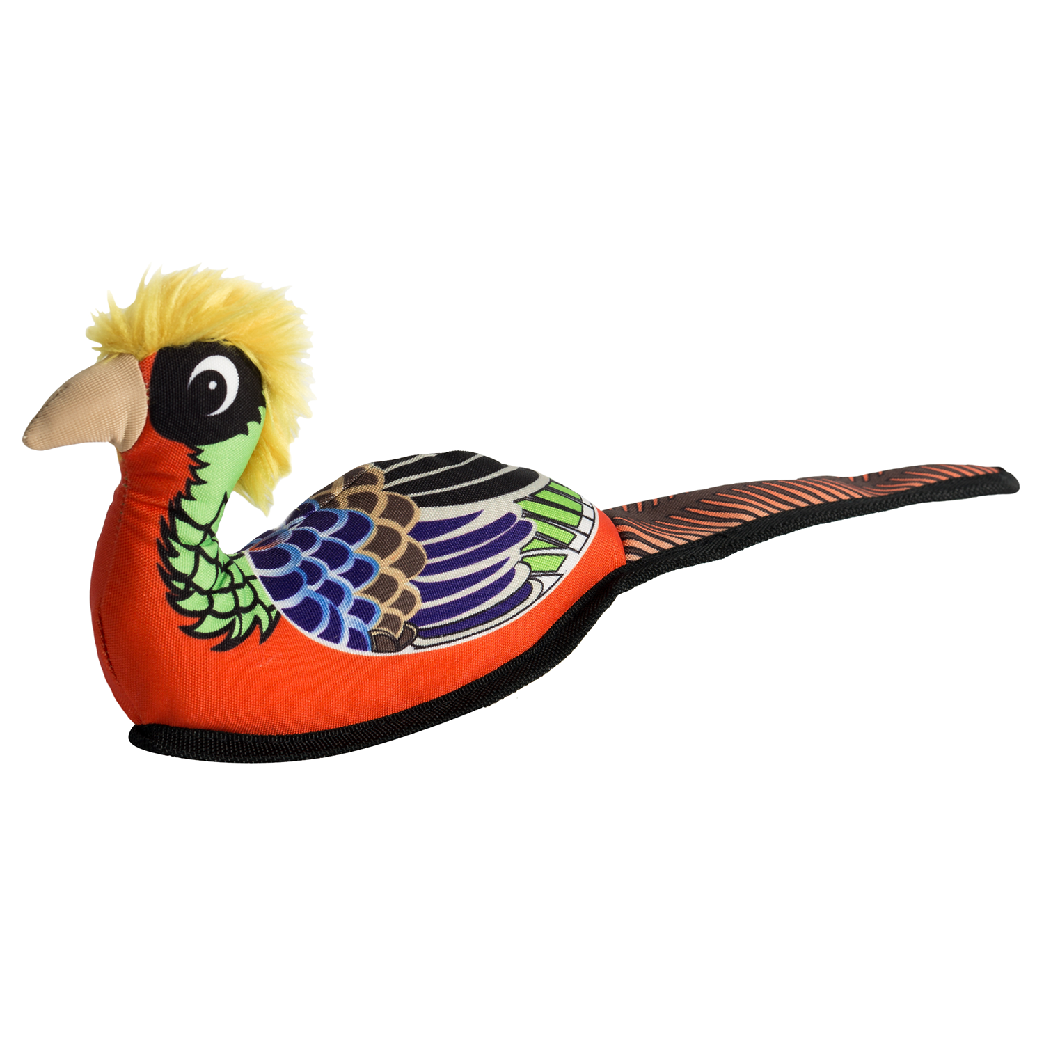 Happy Tails Critterz Canvas Dog Toy - Pheasant