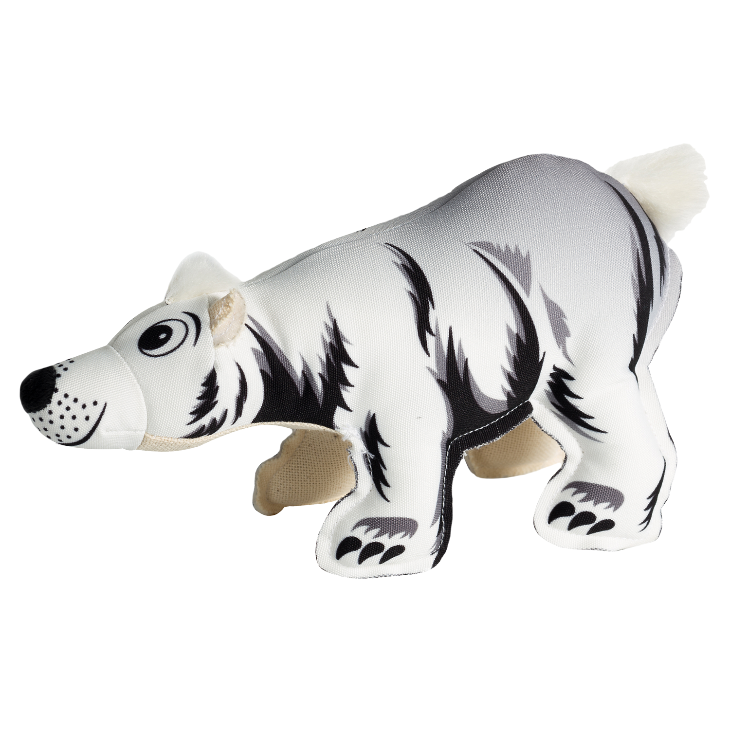 Happy Tails Critterz Canvas Dog Toy - Polar Bear
