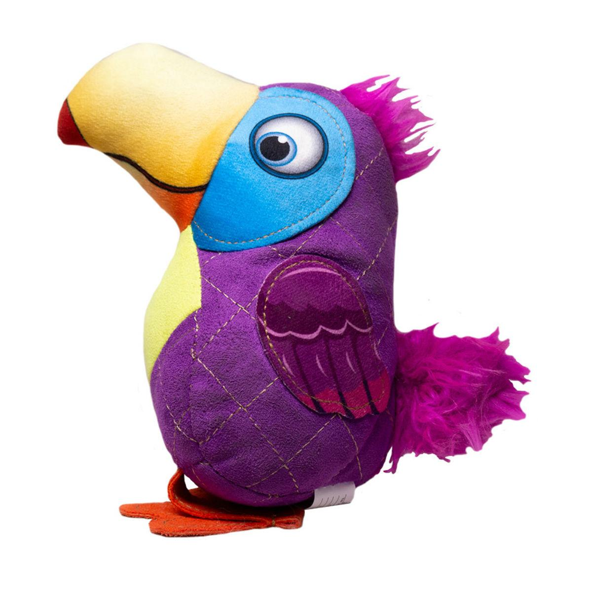 Happy Tails Doodles Bird Dog Toy - Purple